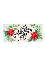 Evergreen Enterprises Merry Christmas Poinsettias Sassafras Switch Mat