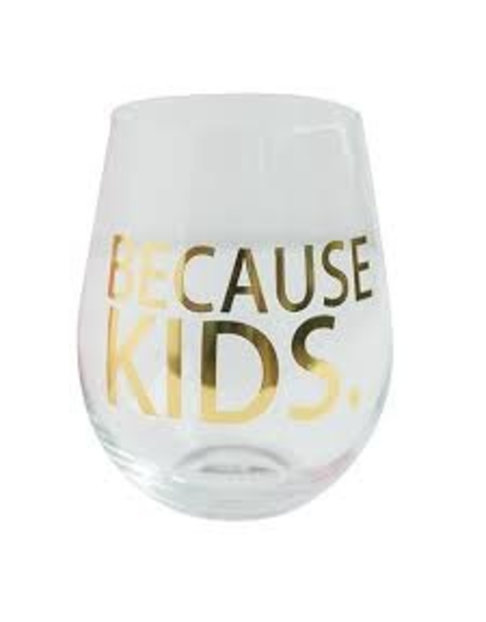 Mary Square Stemless BECAUSE KIDS Wine Glass