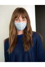 Mer Sea Reusable Face Mask - Light Blue Print