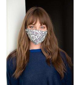 Mer Sea Reusable Face Mask - Cream Print