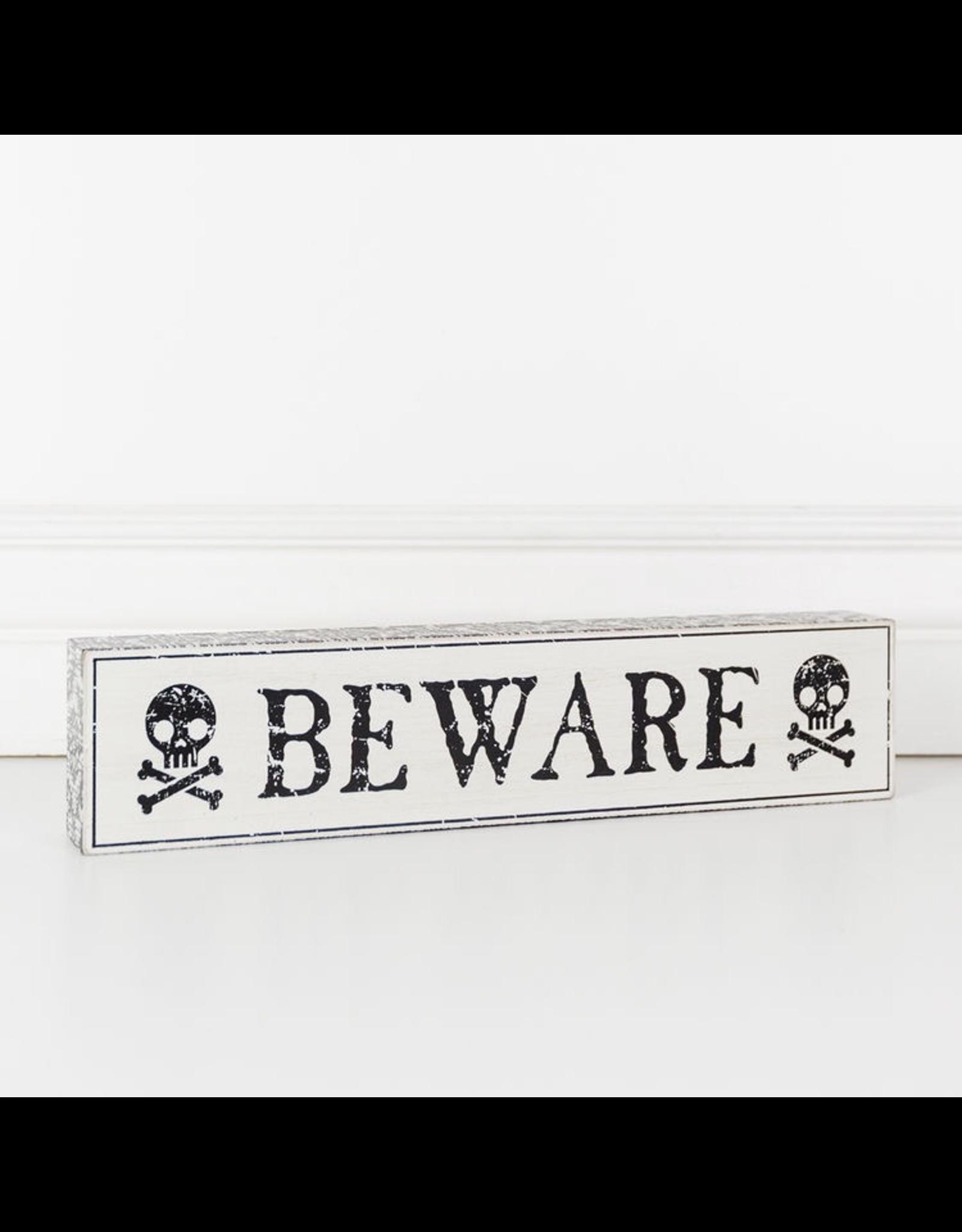 Adams & Co. Wood Brick (Beware), White/Black