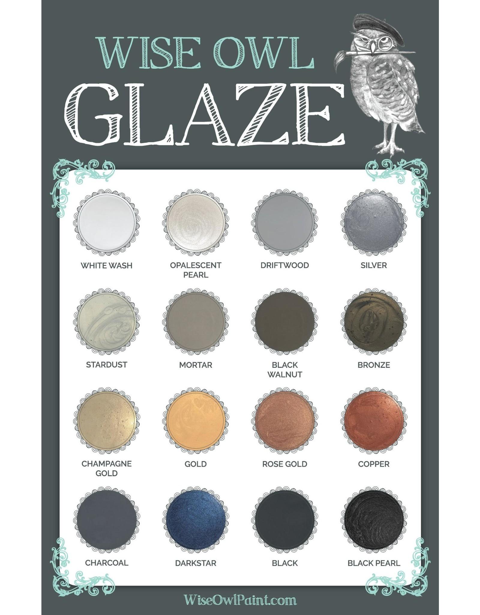 Wise Owl Paint Charcoal Glaze 8oz