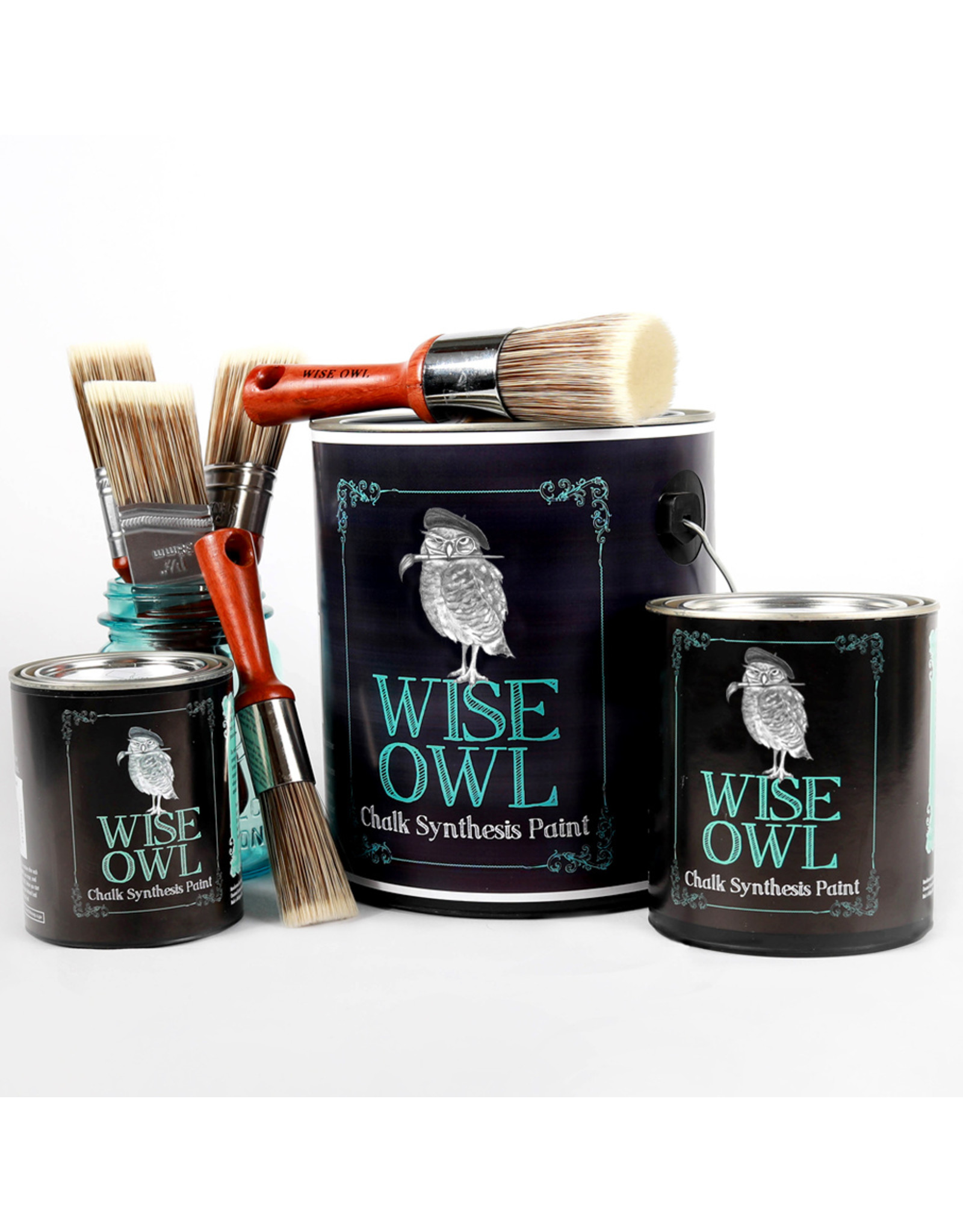 Wise Owl Paint Chalk Synthesis Paint Charleston Green-Pint