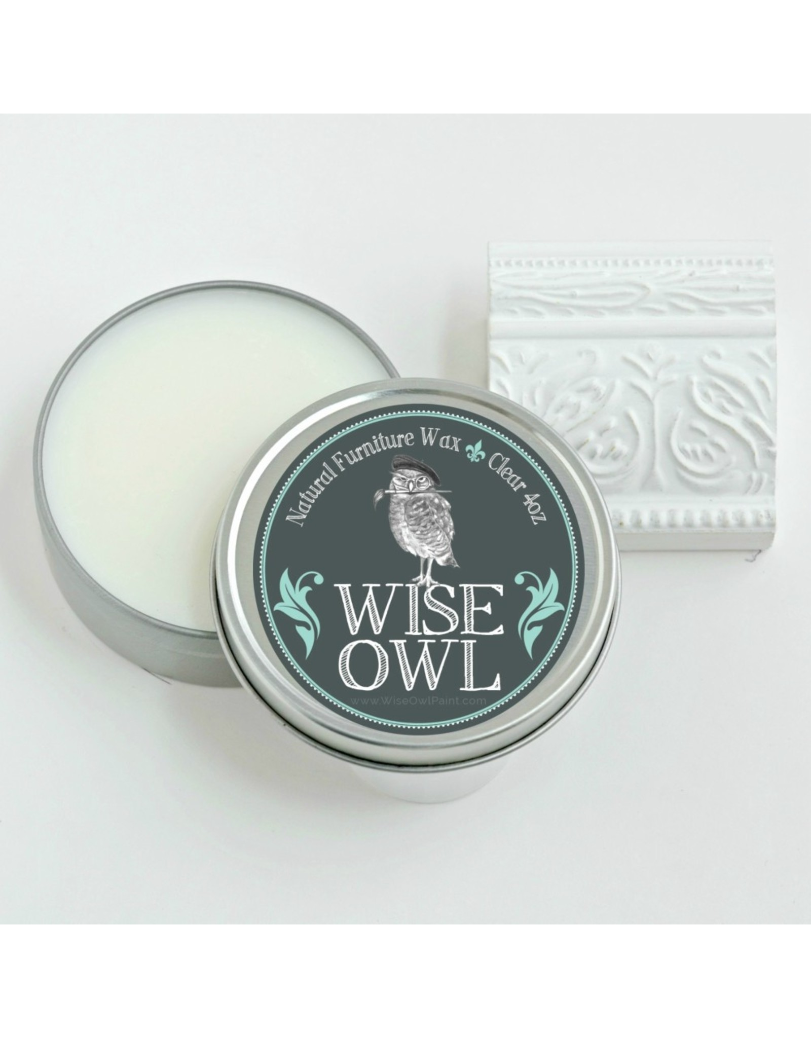 Wise Owl Paint Natural Furniture Wax - Clear 8oz