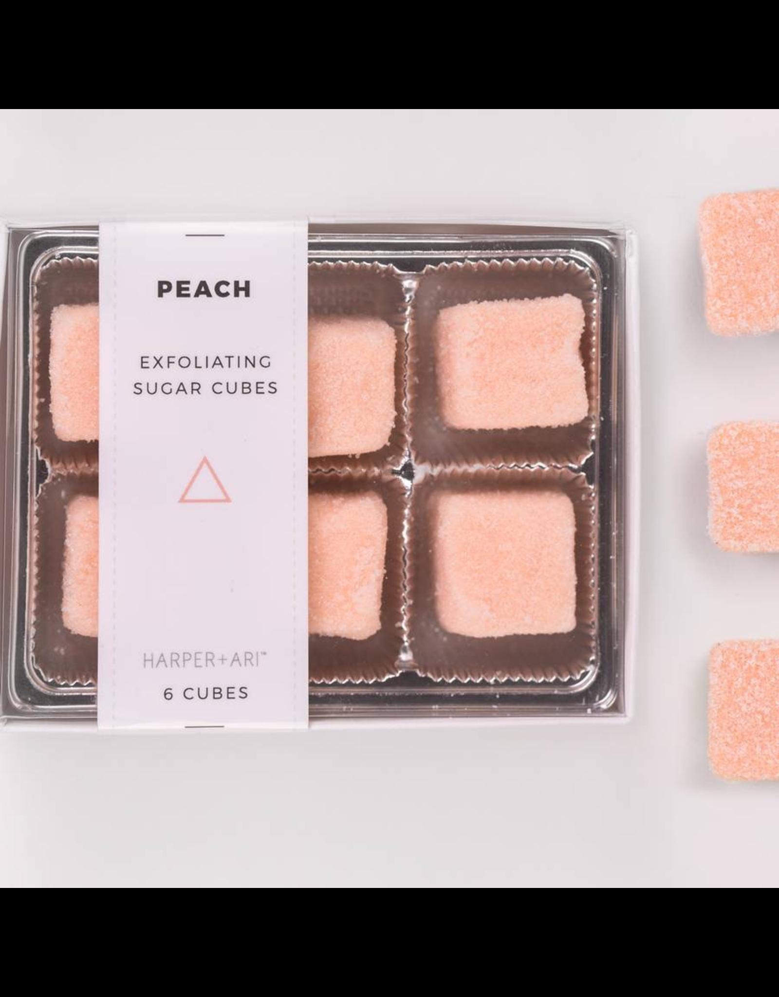 Harper + Ari Exfoliating Sugar Cubes - Peach Gift Box