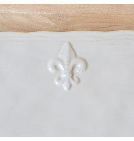 The Royal Standard Fleur de Lis Platter Antique White