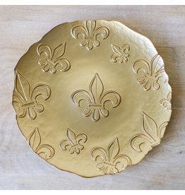The Royal Standard Fleur de Lis Glass Platter 13X13