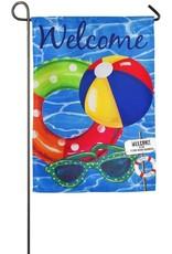 Evergreen Enterprises Pool Fun Garden Linen Flag