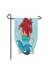 Evergreen Enterprises Light Blue Mermaid Garden Applique Flag