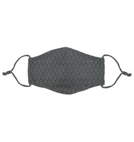 Ivystone Poly Face Mask W/Filter Pocket-Charcoal Diamond