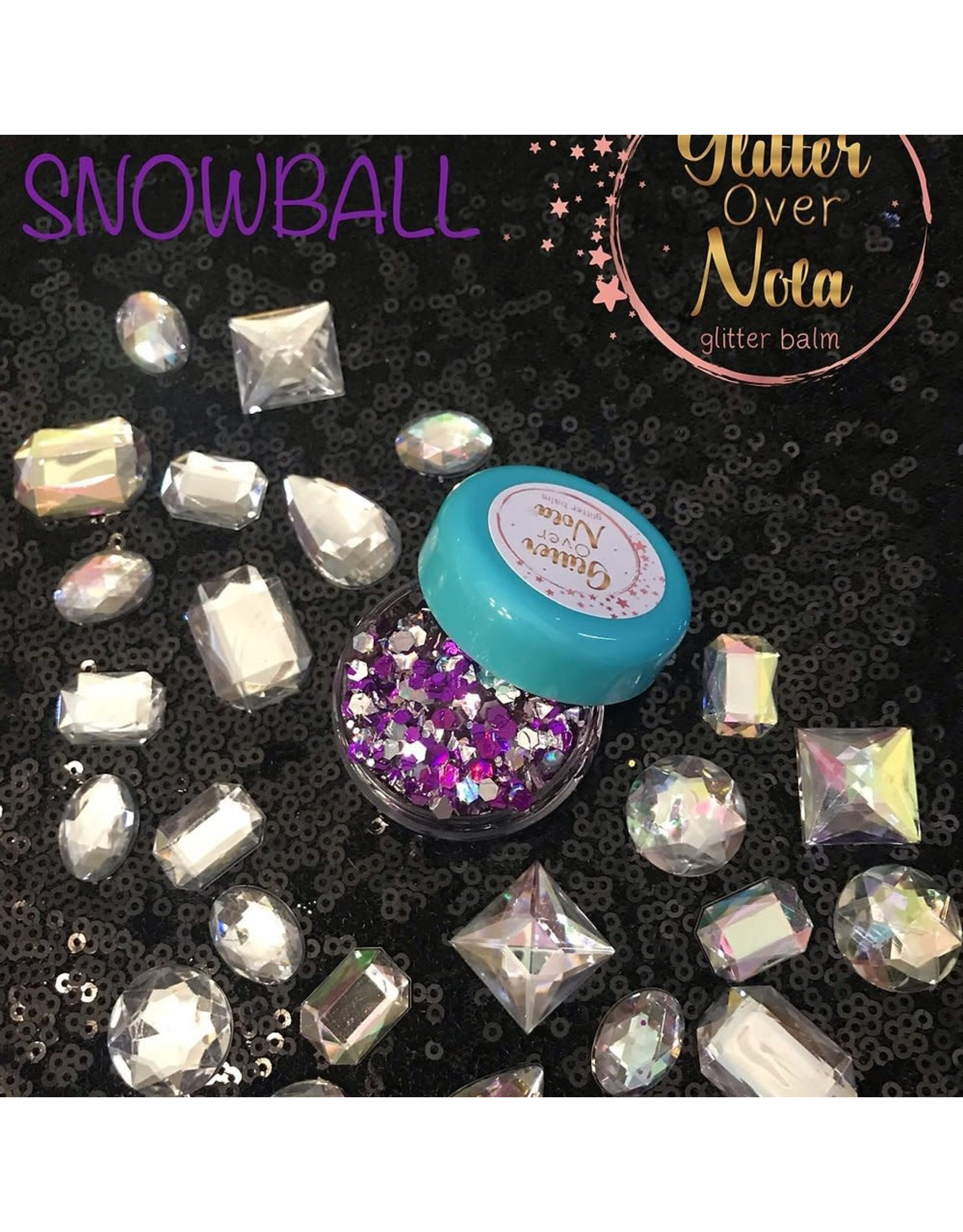 Glitter Over NOLA Grape SnowBall Glitter Balm