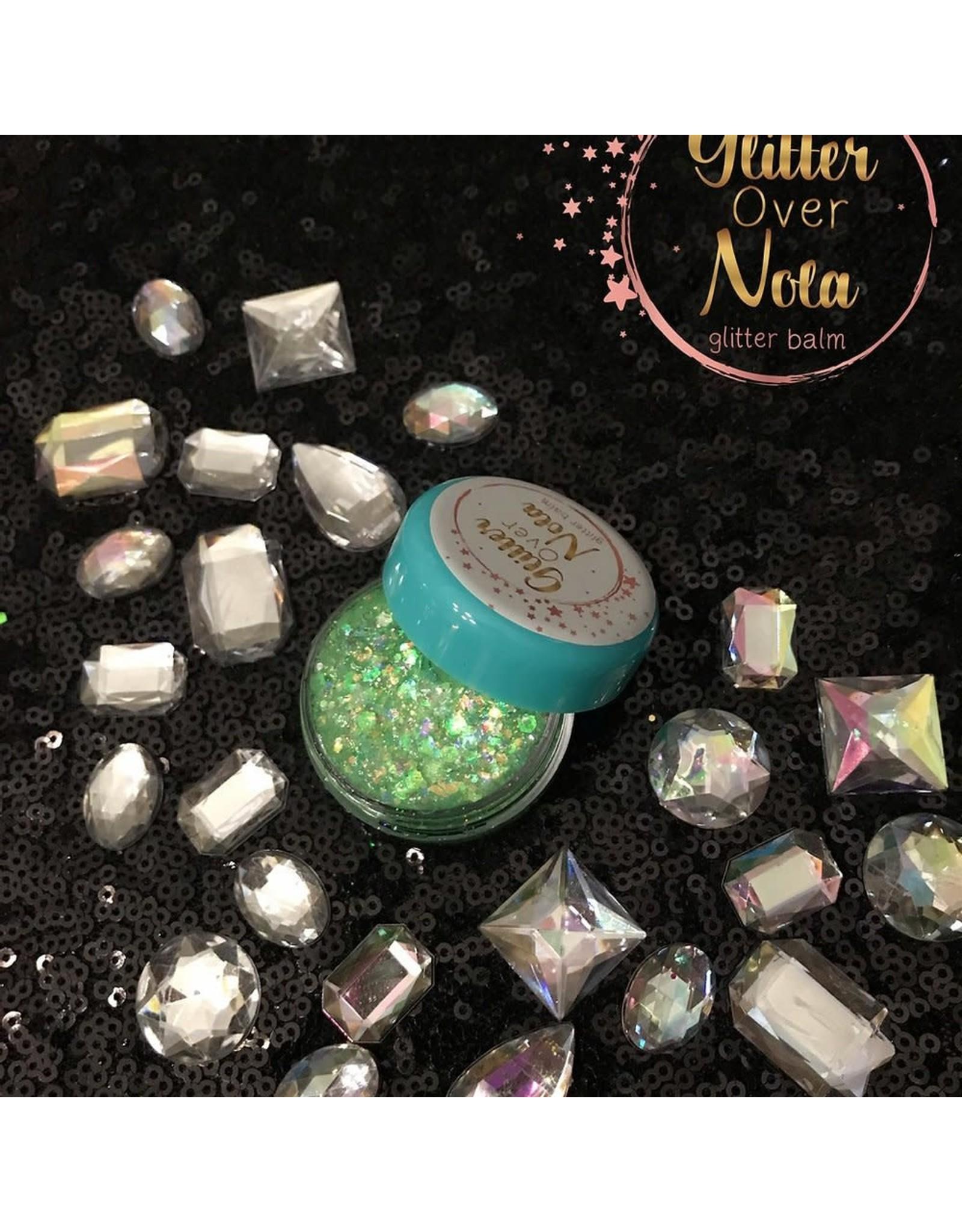 Glitter Over NOLA Gator Eyes Neon Green Glo In Dark Glitter Balm