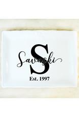 The Royal Standard Antique White Crown Platter,11.5x8.5