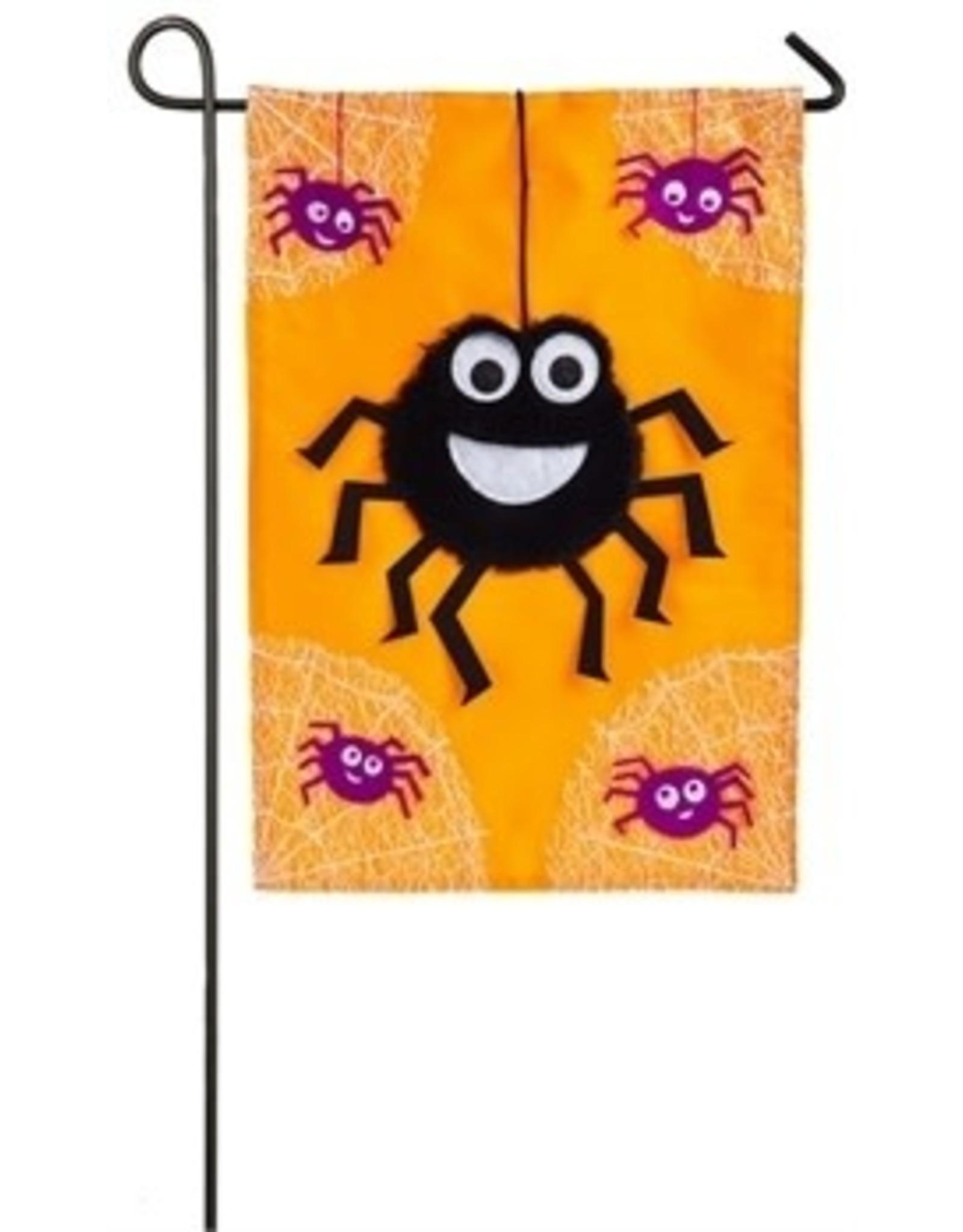 Evergreen Enterprises Dancing Spiders Garden Applique Flag