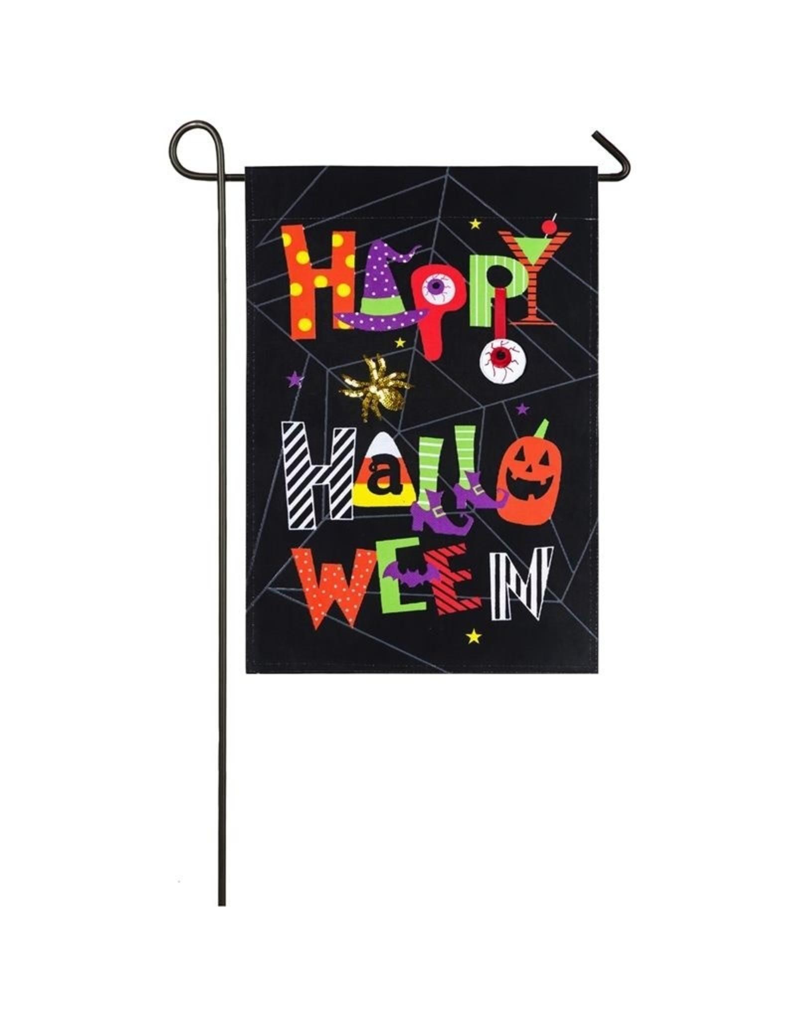 Evergreen Enterprises Happy Halloween Garden Burlap Flag