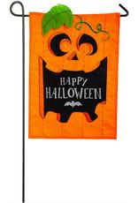 Evergreen Enterprises Jack-O-Halloween Applique Garden Flag