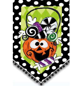 Evergreen Enterprises Candy Jack Suede Garden Flag
