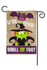 Evergreen Enterprises Smell My Feet Burlap Garden Flag