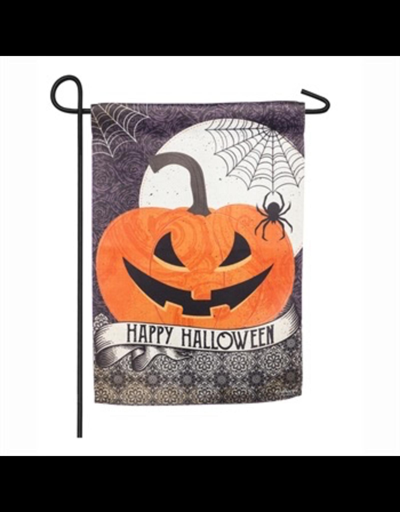Evergreen Enterprises Happy Halloween Garden Suede Flag