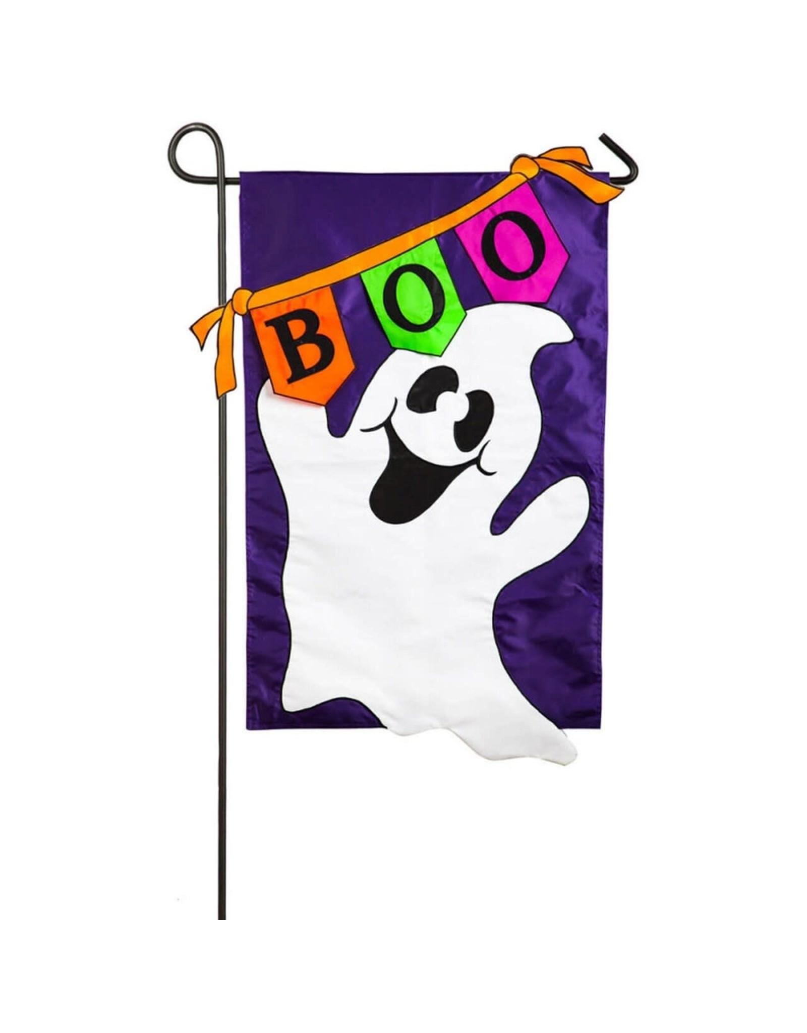 Evergreen Enterprises Boo! Ghost Garden Applique Flag