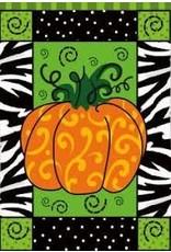 Evergreen Enterprises Artistic Blend Pumpkin Whimsy Garden Flag