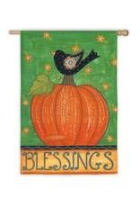 Evergreen Enterprises Blessing Bird On Pumpkin Garden Flag