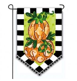 Evergreen Enterprises Tom's Pumpkin Topiary Garden Flag