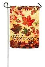 Evergreen Enterprises Fall Leaves Garden Suede Flag