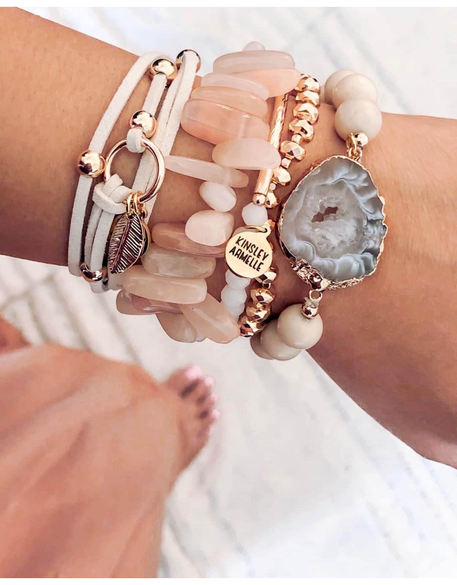 Kinsley Armelle Wrap Collection-Khaki Bracelet