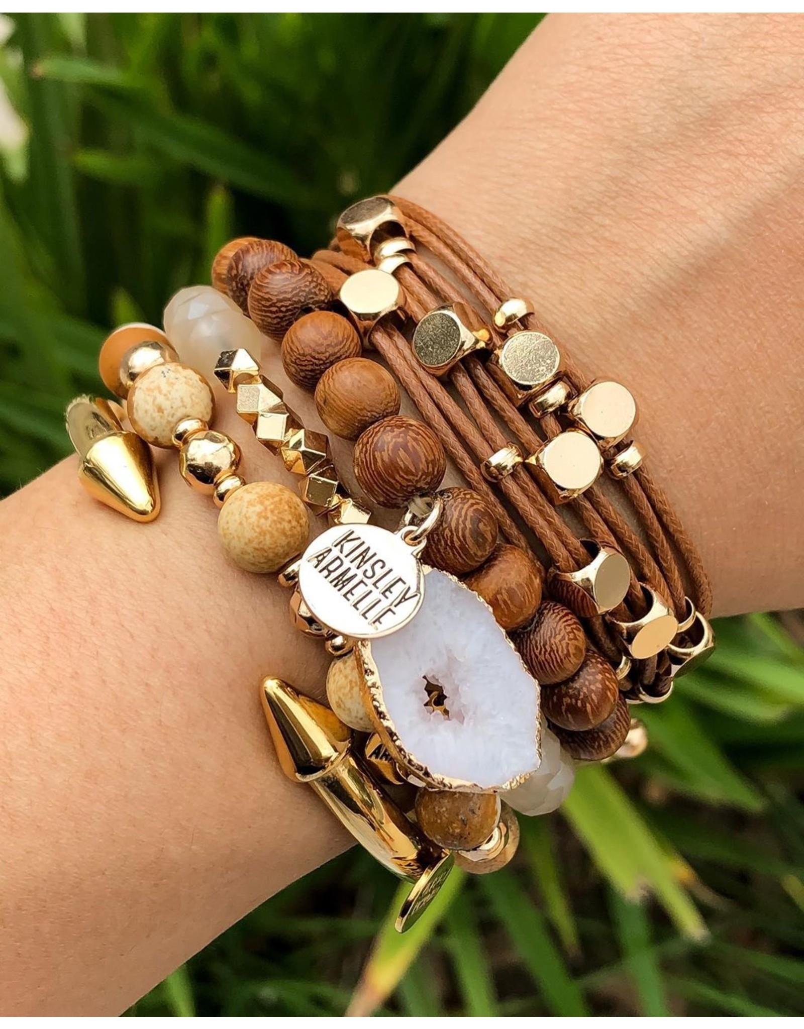 Kinsley Armelle Braid Collection-Rust Bracelet