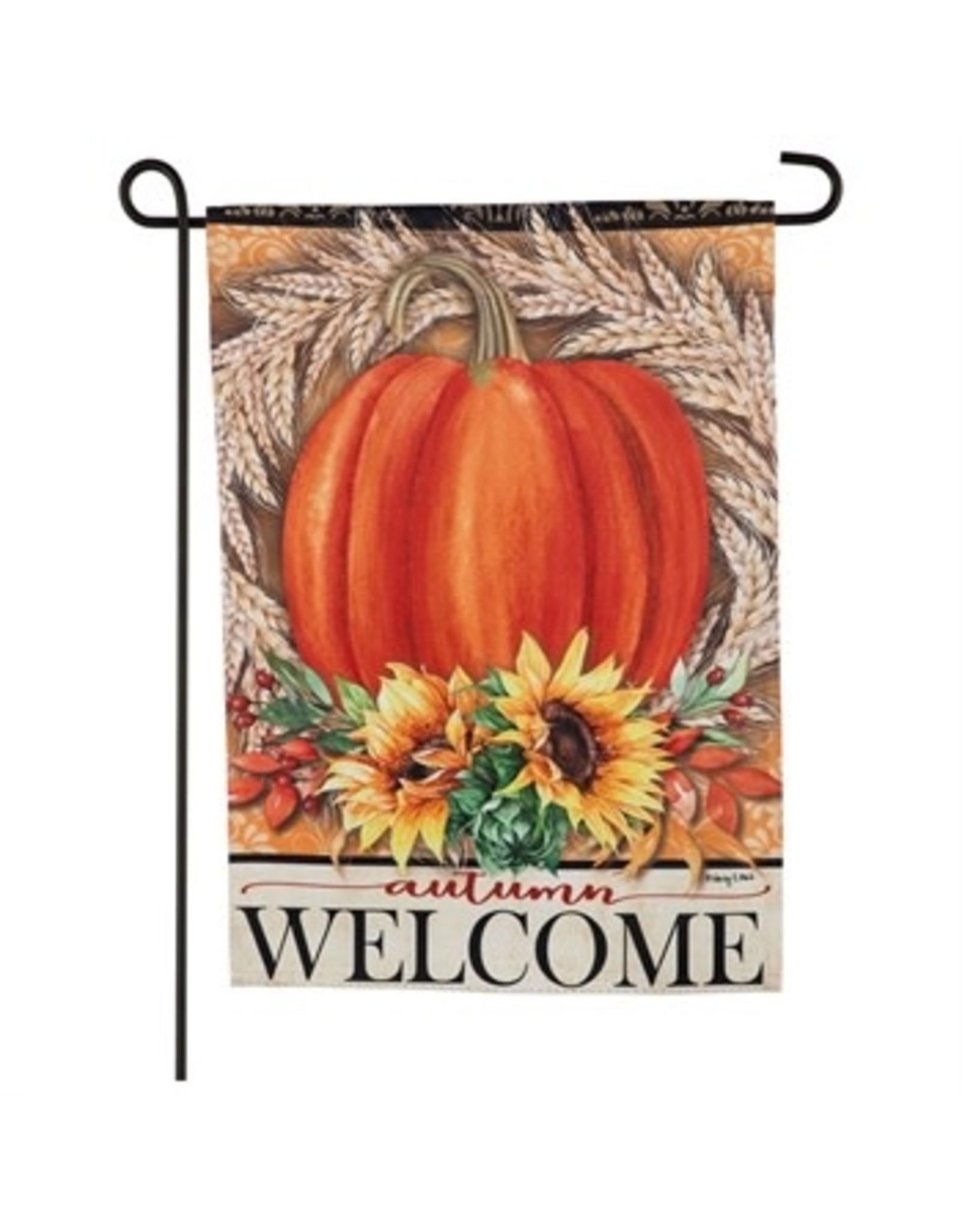 Evergreen Enterprises Festive Autumn Garden Suede Flag