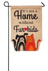 Evergreen Enterprises Fur Kids Garden Burlap Flag
