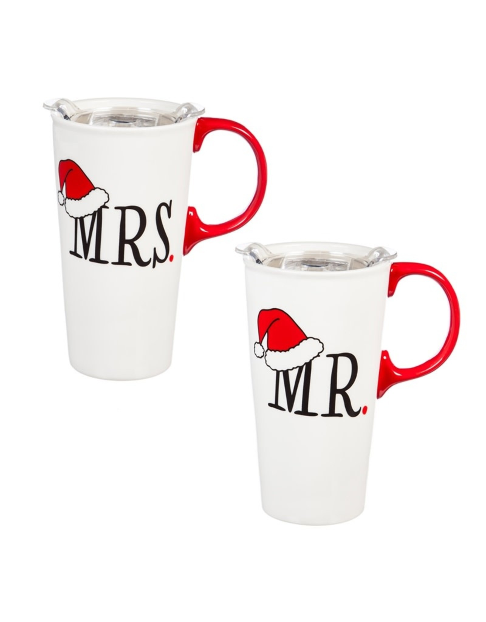 Evergreen Enterprises Mr. & Mrs. Ceramic Travel Cups Giftset