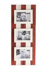 Mudpie Red & Cream Triple Frame