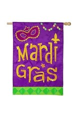 Evergreen Enterprises Mardi Gras Icons House Applique Flag