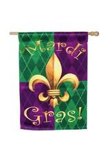 Evergreen Enterprises Mardi Gras Celebration Sub Suede Flag