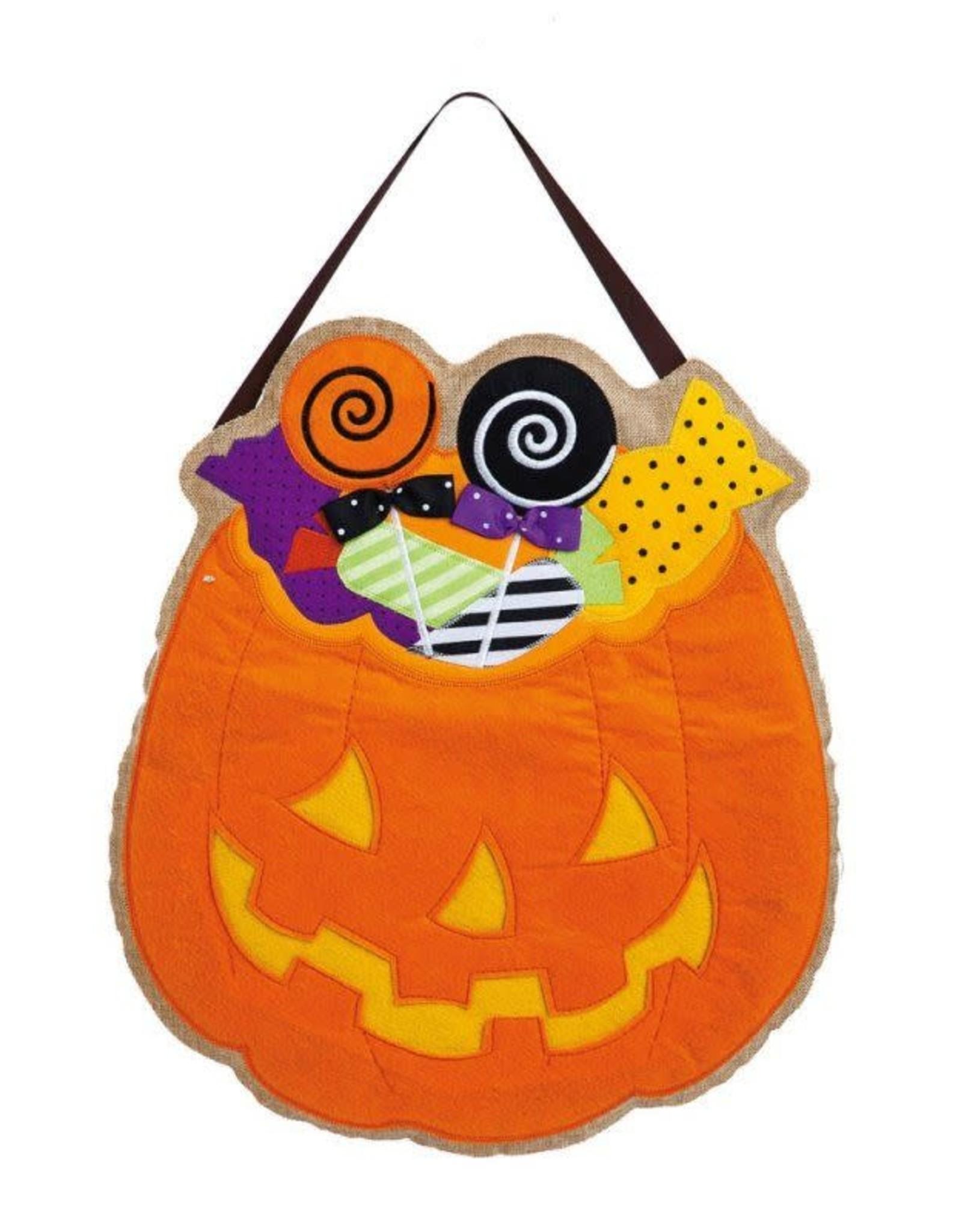 Evergreen Enterprises Halloween Candy Burlap Door Decor