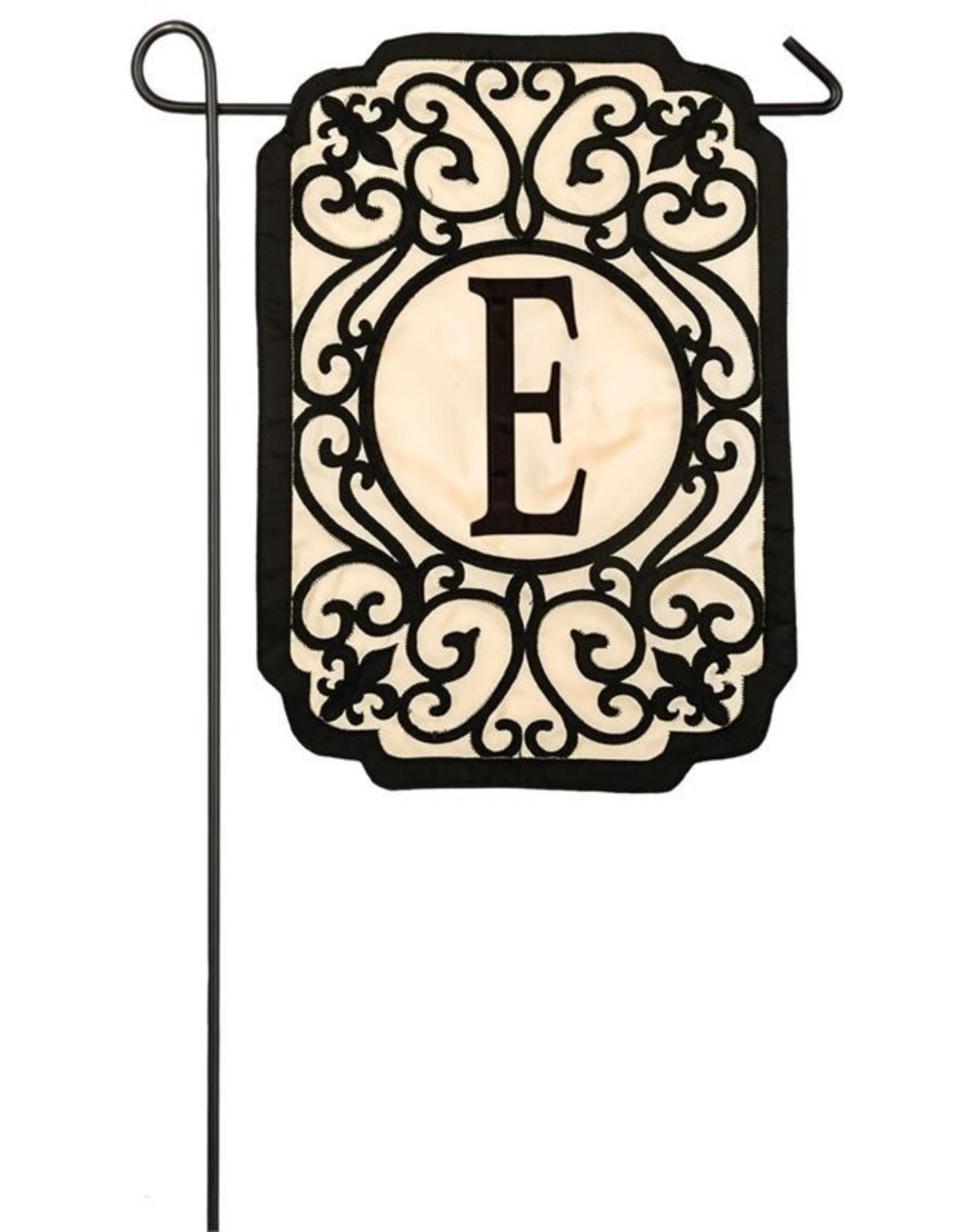 Evergreen Enterprises Filigree Monogram E Garden Flag
