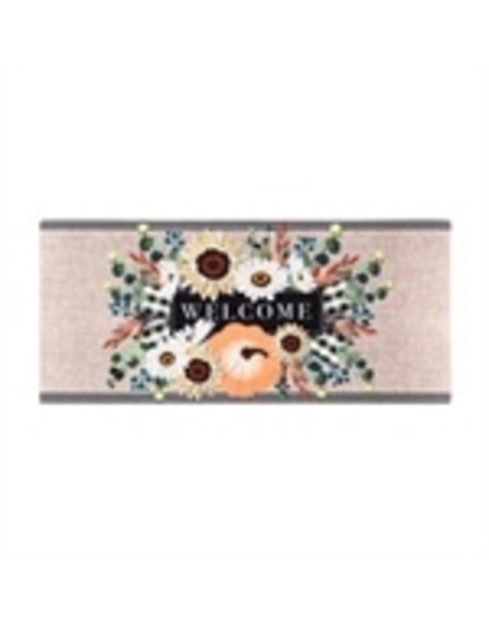 Evergreen Enterprises Autumn Floral Swag Burlap Sassafras Switch Mat