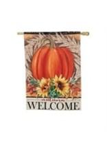 Evergreen Enterprises Festive Autumn House Suede Flag