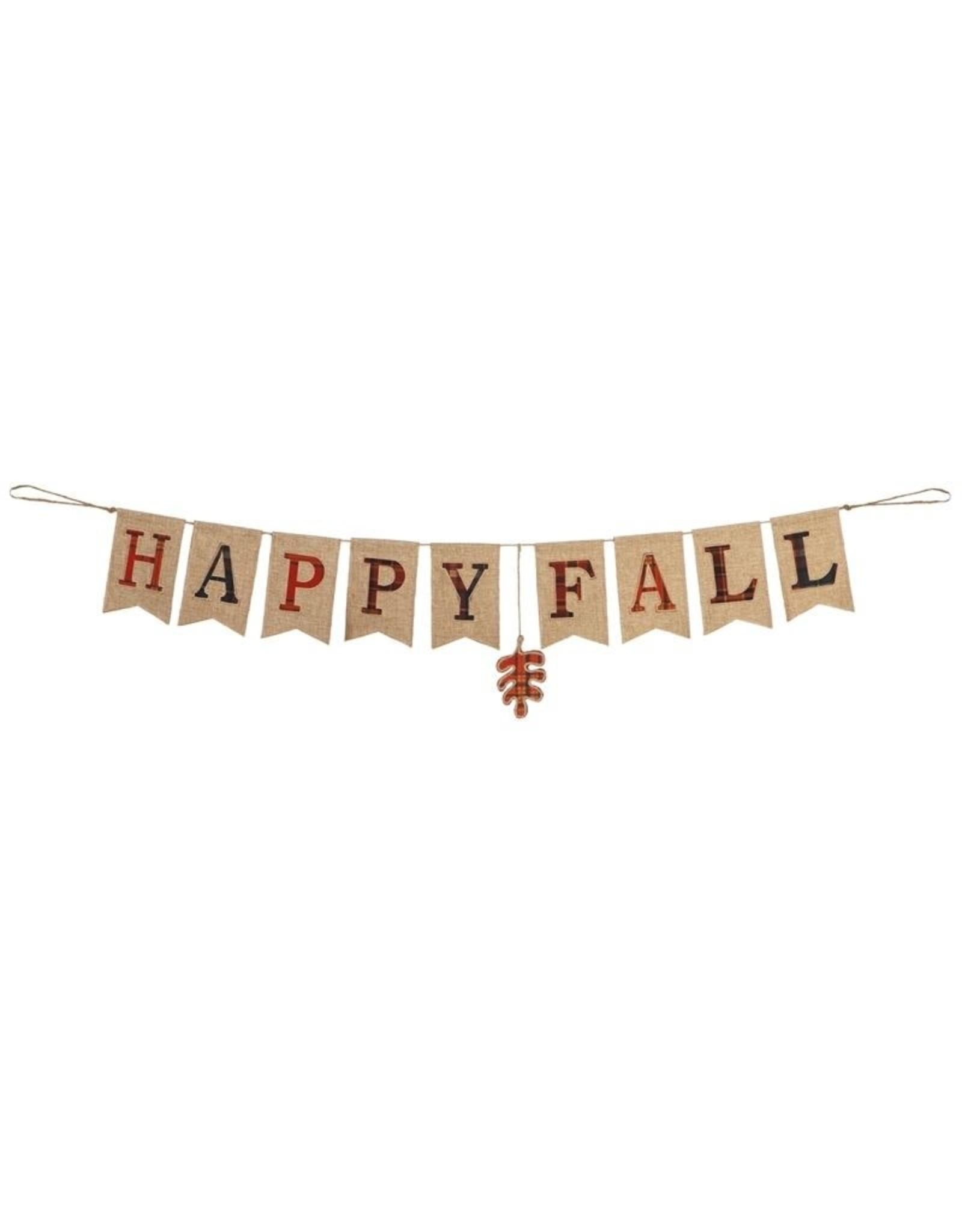 Evergreen Enterprises Happy Fall Seasonal Decor Banner
