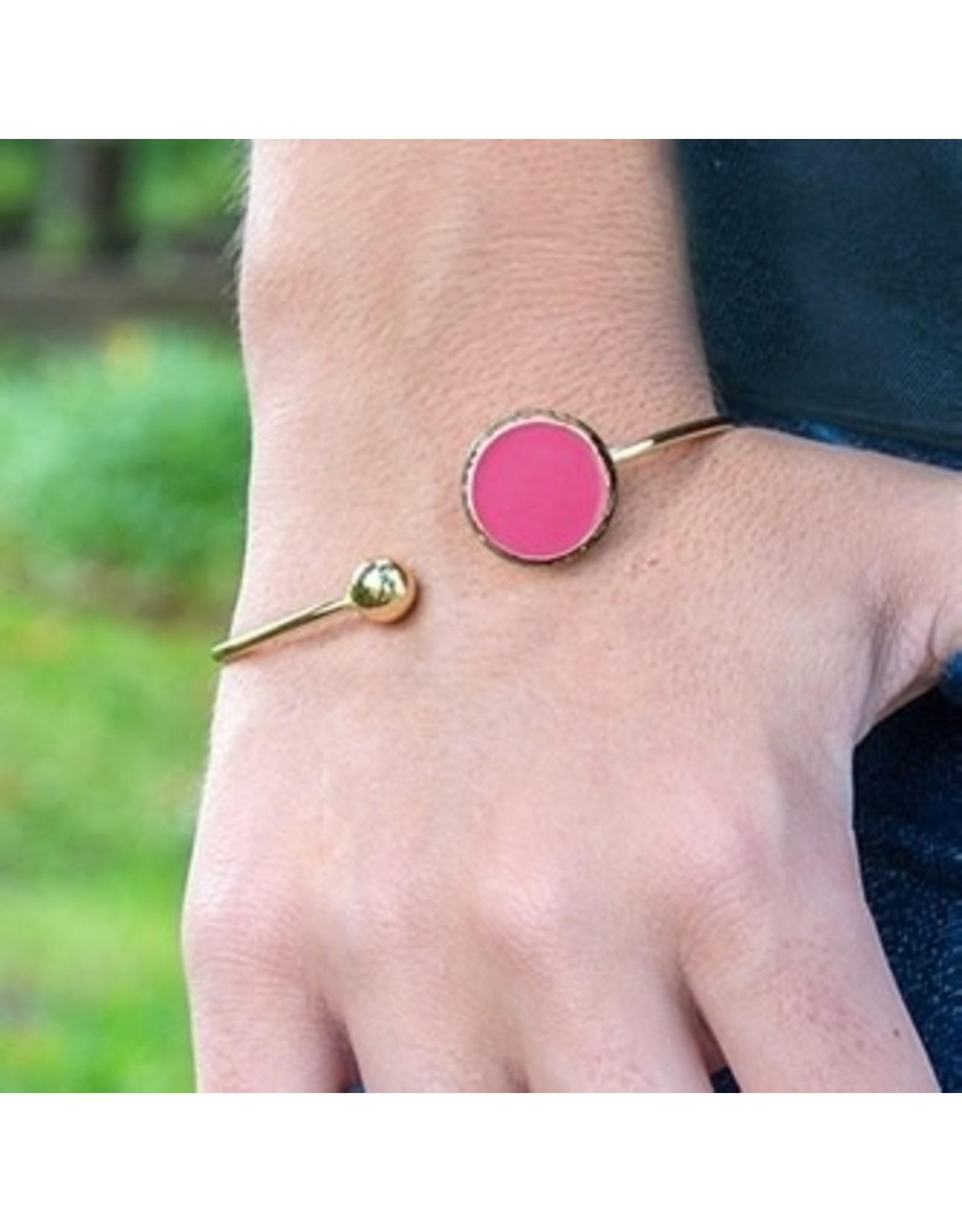 Mainstreet Collection Pink Enamel Bracelet