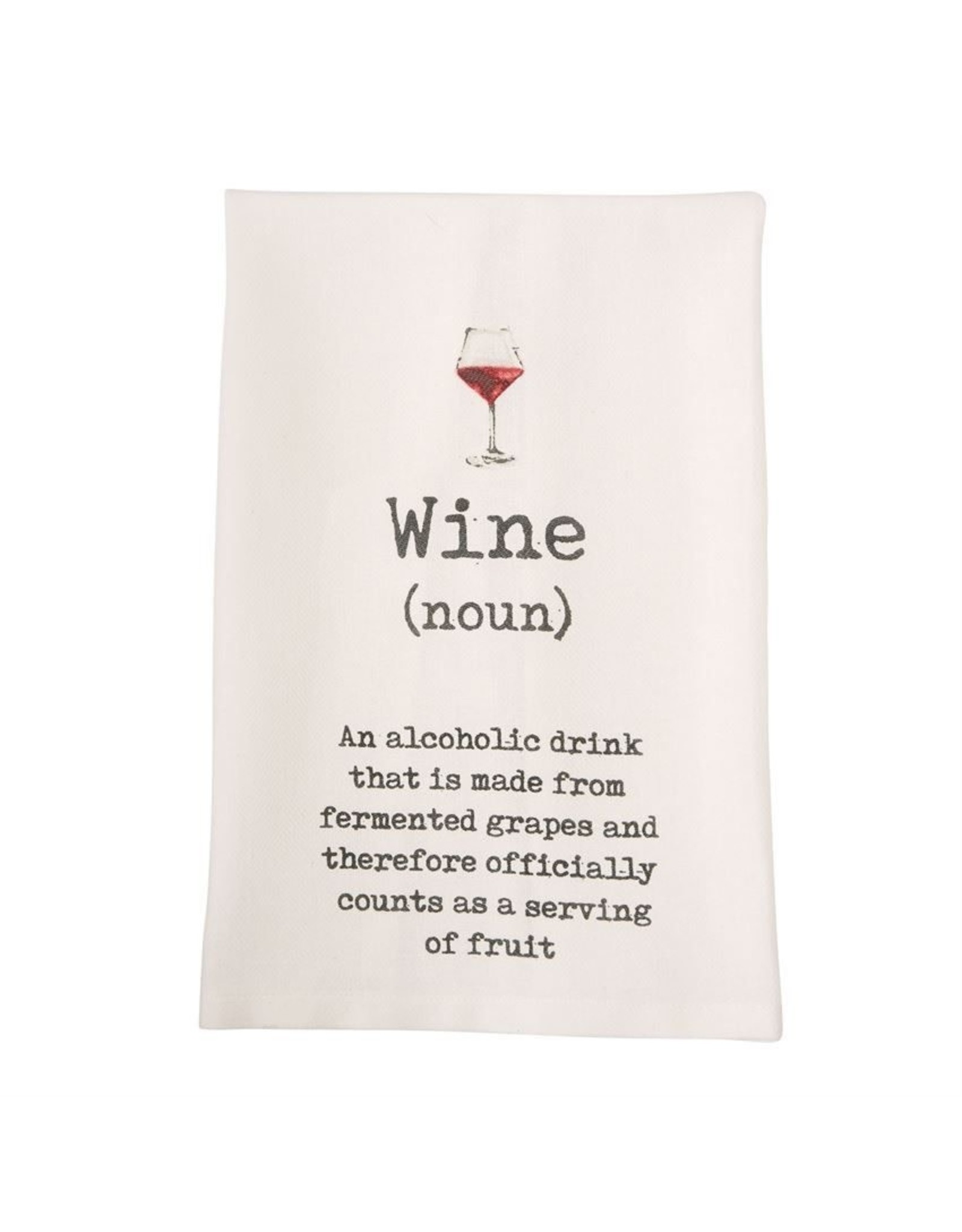 Mudpie Wine Definition Printed Hand Towel