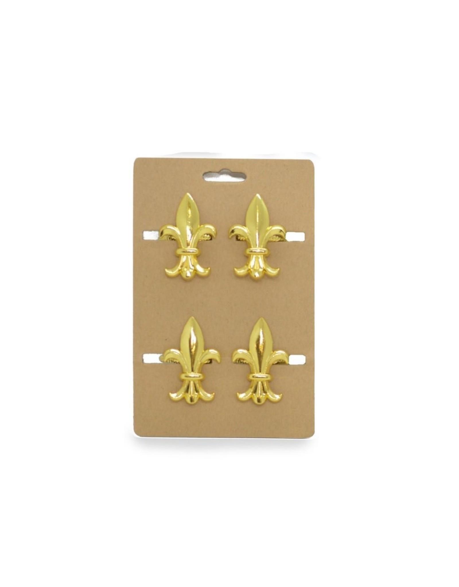 Roux Brand Gold FDL Napkin Rings Set/4