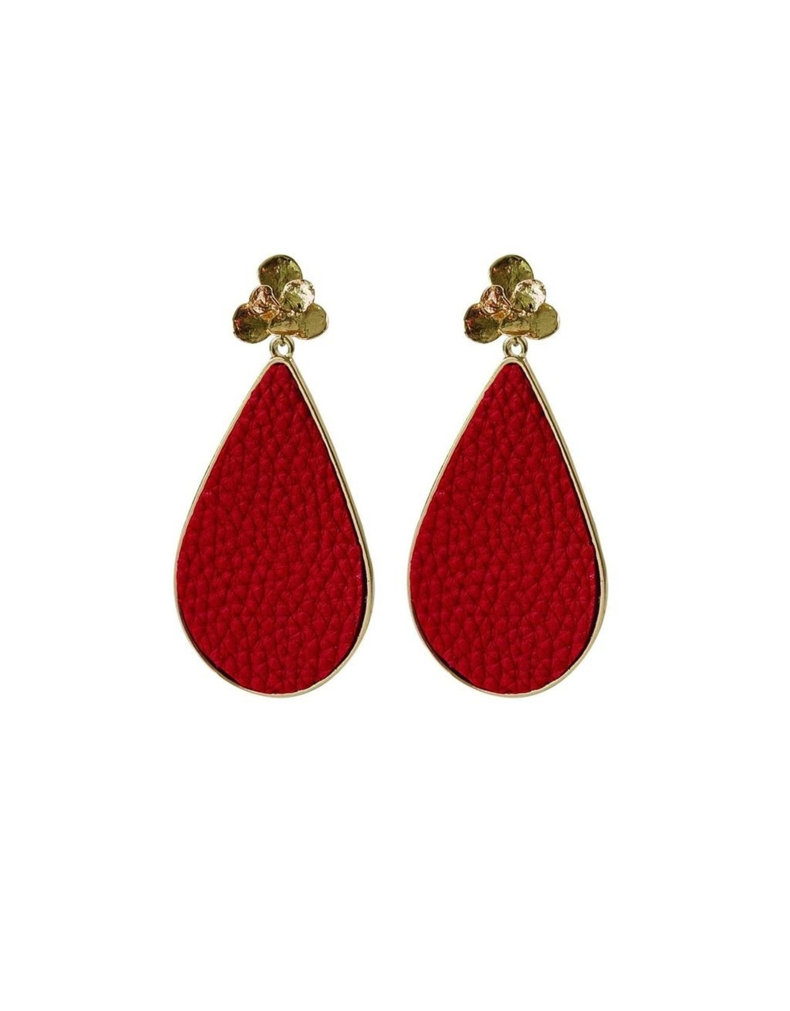 Mary Square Miami Red Earrings