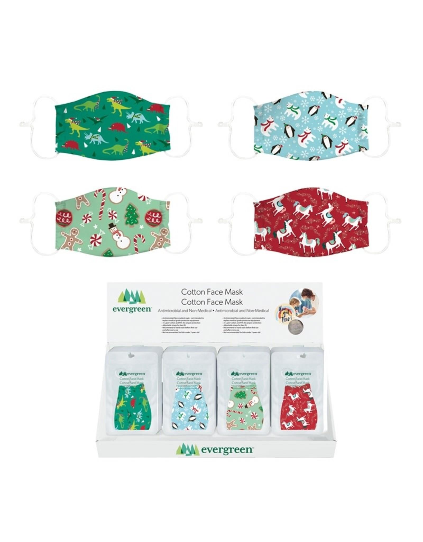 Evergreen Enterprises Children Non-Medical Cotton Face Mask - 4 Christmas Designs