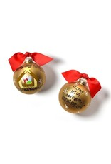 Coton Colors O Come All Ye Faithful Glass Ornaments