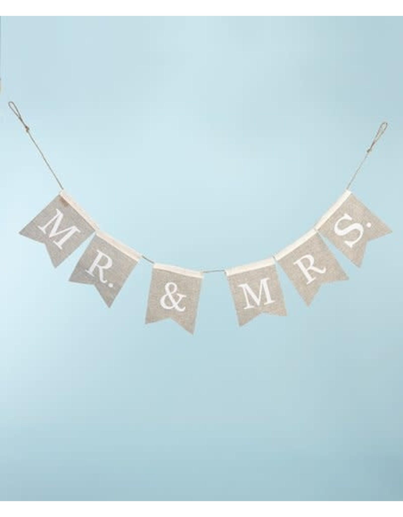 Evergreen Enterprises Mr. & Mrs. Burlap Bunting Banner