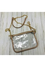 The Royal Standard Alma Clear Crossbody-Gold