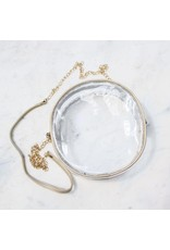 The Royal Standard Campus Clear Crossbody Gold